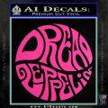 Dread Zeppelin Logo Decal Sticker VZL Hot Pink Vinyl 120x120