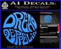 Dread Zeppelin Logo Decal Sticker VZL Light Blue Vinyl 120x97