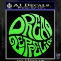 Dread Zeppelin Logo Decal Sticker VZL Lime Green Vinyl 120x120