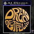 Dread Zeppelin Logo Decal Sticker VZL Metallic Gold Vinyl 120x120