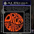 Dread Zeppelin Logo Decal Sticker VZL Orange Vinyl Emblem 120x120
