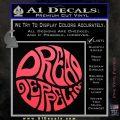 Dread Zeppelin Logo Decal Sticker VZL Pink Vinyl Emblem 120x120