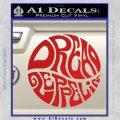 Dread Zeppelin Logo Decal Sticker VZL Red Vinyl 120x120