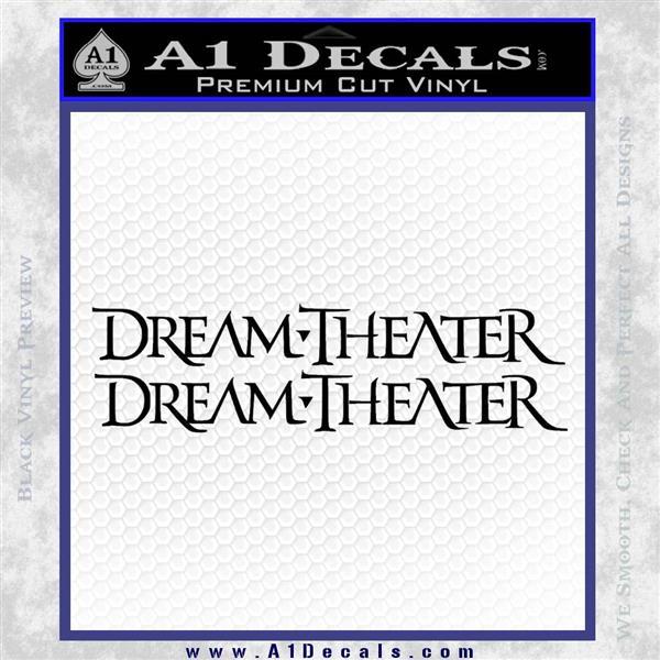 Dream Theater TXT Decal Sticker Black Logo Emblem