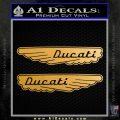 Ducati Wings Retro Decal Sticker Metallic Gold Vinyl 120x120