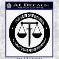 Eden of the East INT Decal Sticker Black Logo Emblem 120x120