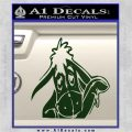 Eeyore Wave Decal Sticker Winnie the Poo Dark Green Vinyl 120x120