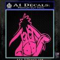 Eeyore Wave Decal Sticker Winnie the Poo Hot Pink Vinyl 120x120