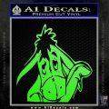 Eeyore Wave Decal Sticker Winnie the Poo Lime Green Vinyl 120x120