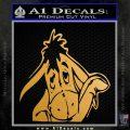 Eeyore Wave Decal Sticker Winnie the Poo Metallic Gold Vinyl 120x120