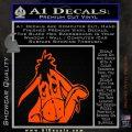 Eeyore Wave Decal Sticker Winnie the Poo Orange Vinyl Emblem 120x120