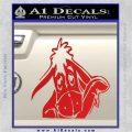 Eeyore Wave Decal Sticker Winnie the Poo Red Vinyl 120x120