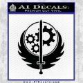 Fallout Brotherhood D4 Decal Sticker Black Logo Emblem 120x120