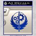 Fallout Brotherhood D4 Decal Sticker Blue Vinyl 120x120