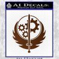 Fallout Brotherhood D4 Decal Sticker Brown Vinyl 120x120