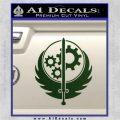 Fallout Brotherhood D4 Decal Sticker Dark Green Vinyl 120x120