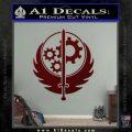 Fallout Brotherhood D4 Decal Sticker Dark Red Vinyl 120x120