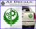 Fallout Brotherhood D4 Decal Sticker Green Vinyl 120x97