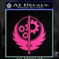 Fallout Brotherhood D4 Decal Sticker Hot Pink Vinyl 120x120