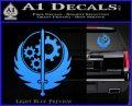Fallout Brotherhood D4 Decal Sticker Light Blue Vinyl 120x97