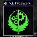 Fallout Brotherhood D4 Decal Sticker Lime Green Vinyl 120x120