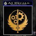 Fallout Brotherhood D4 Decal Sticker Metallic Gold Vinyl 120x120