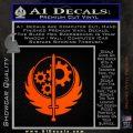 Fallout Brotherhood D4 Decal Sticker Orange Vinyl Emblem 120x120