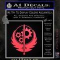 Fallout Brotherhood D4 Decal Sticker Pink Vinyl Emblem 120x120