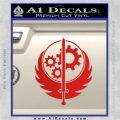 Fallout Brotherhood D4 Decal Sticker Red Vinyl 120x120