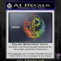 Fallout Brotherhood D4 Decal Sticker Sparkle Glitter Vinyl 120x120