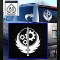 Fallout Brotherhood D4 Decal Sticker White Emblem 120x120