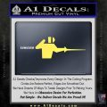 Fencing Decal Sticker D1 Yelllow Vinyl 120x120