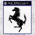 Ferraris horse RDZ Decal Sticker Black Logo Emblem 120x120