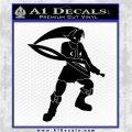 Fierce Deity Link SXC Decal Sticker Black Logo Emblem 120x120