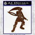 Fierce Deity Link SXC Decal Sticker Brown Vinyl 120x120