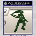 Fierce Deity Link SXC Decal Sticker Dark Green Vinyl 120x120