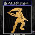 Fierce Deity Link SXC Decal Sticker Metallic Gold Vinyl 120x120