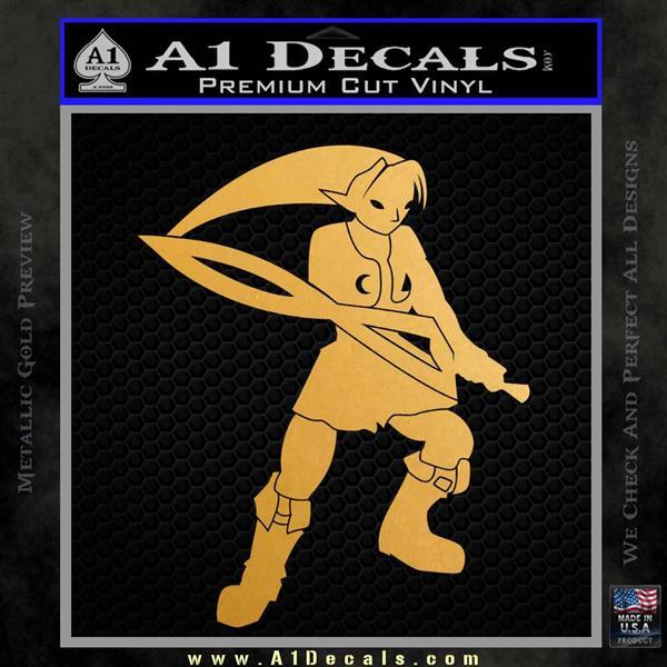 Fierce Deity Link SXC Decal Sticker Metallic Gold Vinyl