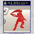 Fierce Deity Link SXC Decal Sticker Red Vinyl 120x120