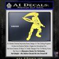 Fierce Deity Link SXC Decal Sticker Yelllow Vinyl 120x120