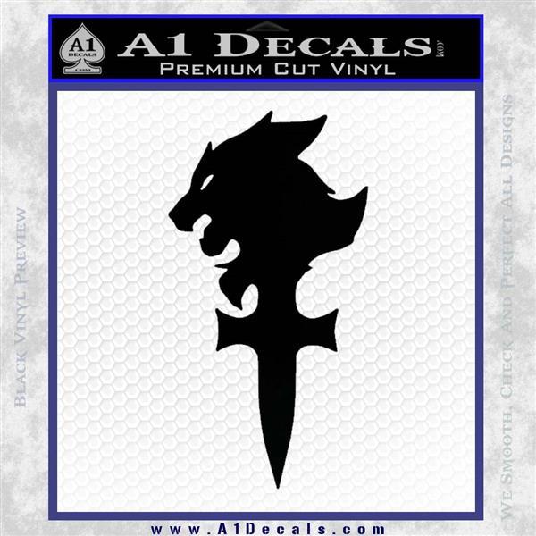 Final Fantasy 8 Logo Decal Sticker Black Logo Emblem