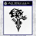 Final Fantasy Lionheart Decal Sticker DZA Black Logo Emblem 120x120