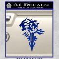 Final Fantasy Lionheart Decal Sticker DZA Blue Vinyl 120x120