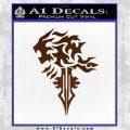 Final Fantasy Lionheart Decal Sticker DZA Brown Vinyl 120x120