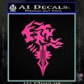 Final Fantasy Lionheart Decal Sticker DZA Hot Pink Vinyl 120x120