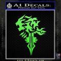 Final Fantasy Lionheart Decal Sticker DZA Lime Green Vinyl 120x120