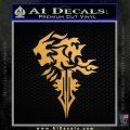 Final Fantasy Lionheart Decal Sticker DZA Metallic Gold Vinyl 120x120