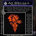 Final Fantasy Lionheart Decal Sticker DZA Orange Vinyl Emblem 120x120
