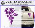 Final Fantasy Lionheart Decal Sticker DZA Purple Vinyl 120x97