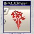 Final Fantasy Lionheart Decal Sticker DZA Red Vinyl 120x120